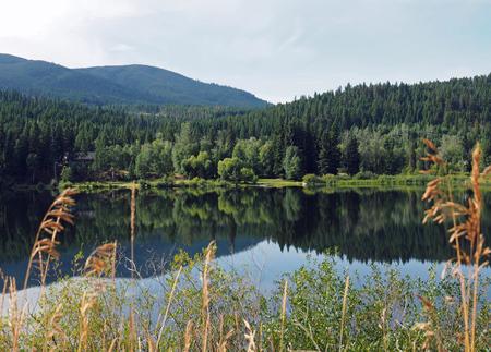 Reflections - Alweer bezig met mijn zoveelste 'corona' project. Nu aan het uitzoeken van talloze foto's gemaakt tijdens een reis naar British Columbia wat jaren ge - foto door Lilian2010 op 15-04-2021 - deze foto bevat: landschap, water, spiegeling, reflectie, british columbia, canada, water, fabriek, wolk, berg, watervoorraden, lucht, plant gemeenschap, ecoregio, natuurlijk landschap, lariks