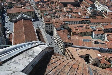 Zicht vanaf de Duomo