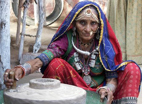 In vol ornaat - India