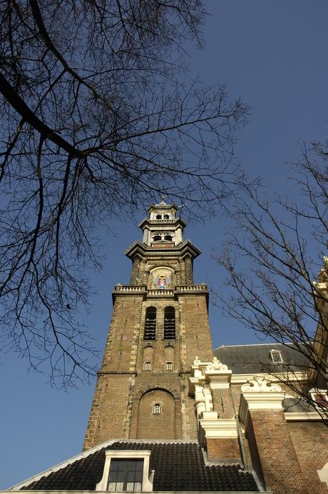 Kerktoren in Amsterdam