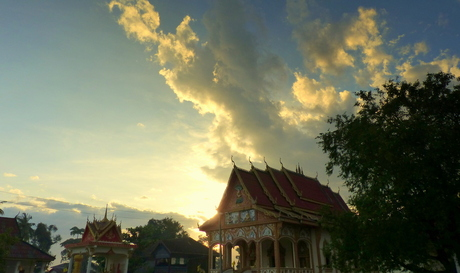 Zonsondergang Laos