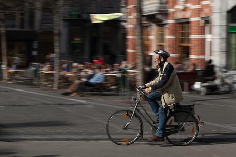 Fietser in Leuven