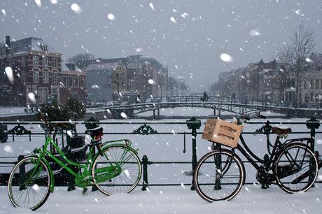 Leiden in de sneeuw