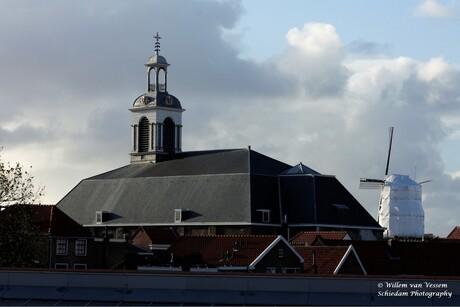 Centrum Schiedam met molen