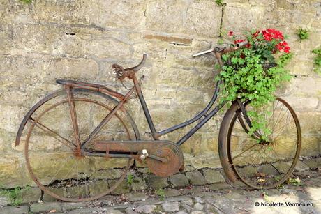 Oude fiets in Durbuy, België