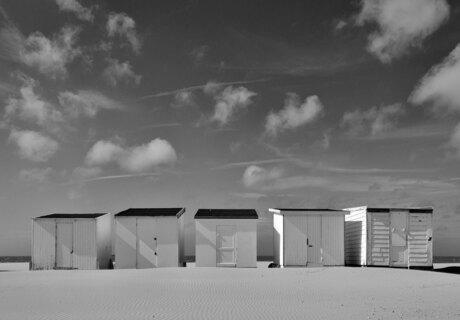 Sunny day on the beach of Calais