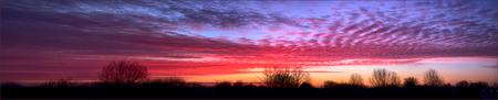 zonsopkomst panorama - Gisteren 5-3 zonsopkomst - foto door Jan Zuijderduijn op 06-03-2015