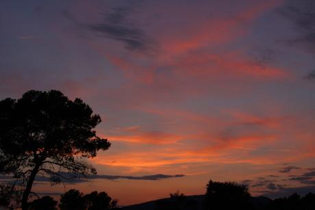 gekleurde hemel