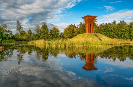 * De Kelk * - Allen weer dank oor de reacties en waarderingen. - foto door AriEos op 07-12-2020 - deze foto bevat: lucht, zon, water, landschap, kunst, overtuin, tietjerk, vijverburg