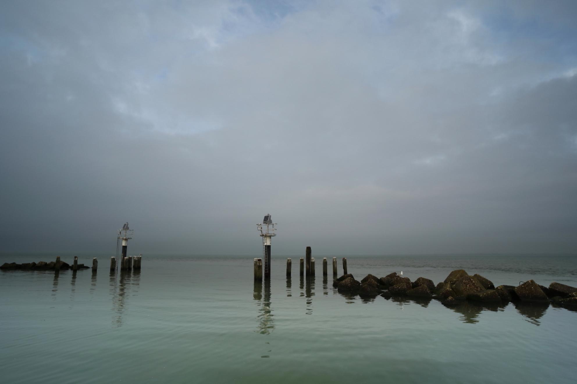 havenhoofd Colijnsplaat - - - foto door jvriens op 03-02-2021 - deze foto bevat: zee, natuur, landschap, haven, kust, havenhoofd