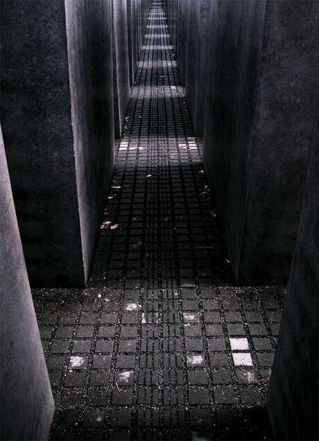 Dark and cold feeling at Holocaust Mahnmal...