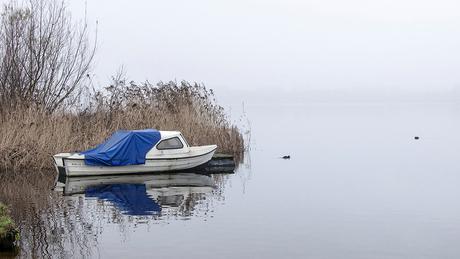 Het waterveld is afgekeurd vanwege de mist
