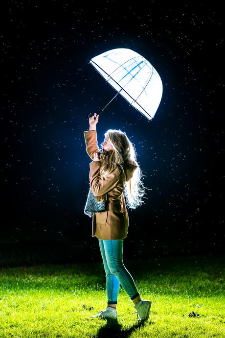 a girl alone in the dark
