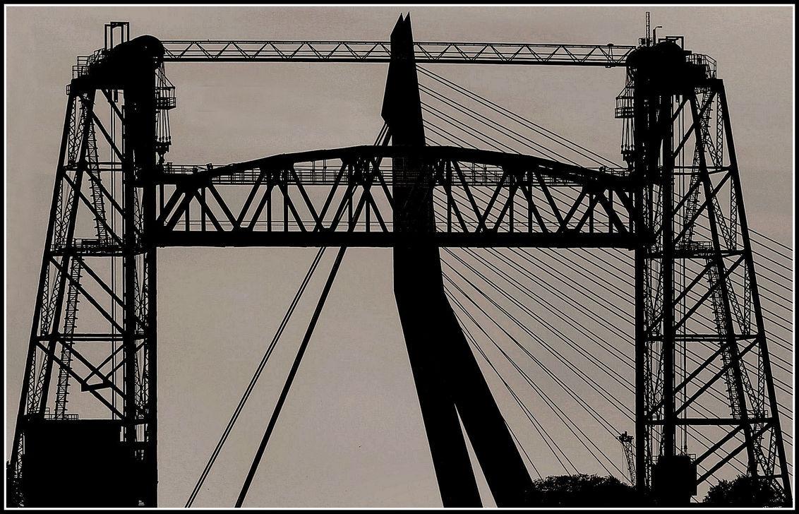 Twee in een .. Rotterdam - - - foto door jelle13 op 24-02-2021 - deze foto bevat: licht, bewerkt, zwartwit, contrast, tonemapping, paint shop pro