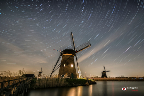 Star trail Kinderdijk