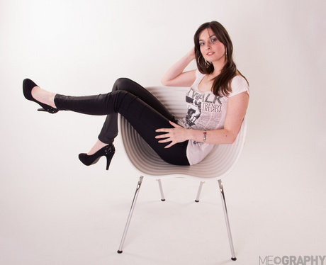 On a chair