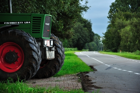 tractor and bumpy road