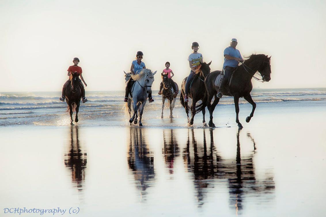 Paardrijden op het strand - Het vervolg op de voorgaande opname.   Iedereen bedankt voor de fijne reacties. Wens iedereen een fijn weekend! - foto door Dodsi op 30-06-2017 - deze foto bevat: zon, strand, zee, water, natuur, paarden, zonsondergang, vakantie, reizen, landschap, zomer, paardrijden, reisfotografie, europa, andalusisch paard