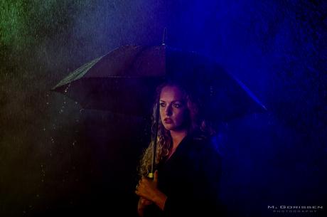 Girl in the rain!