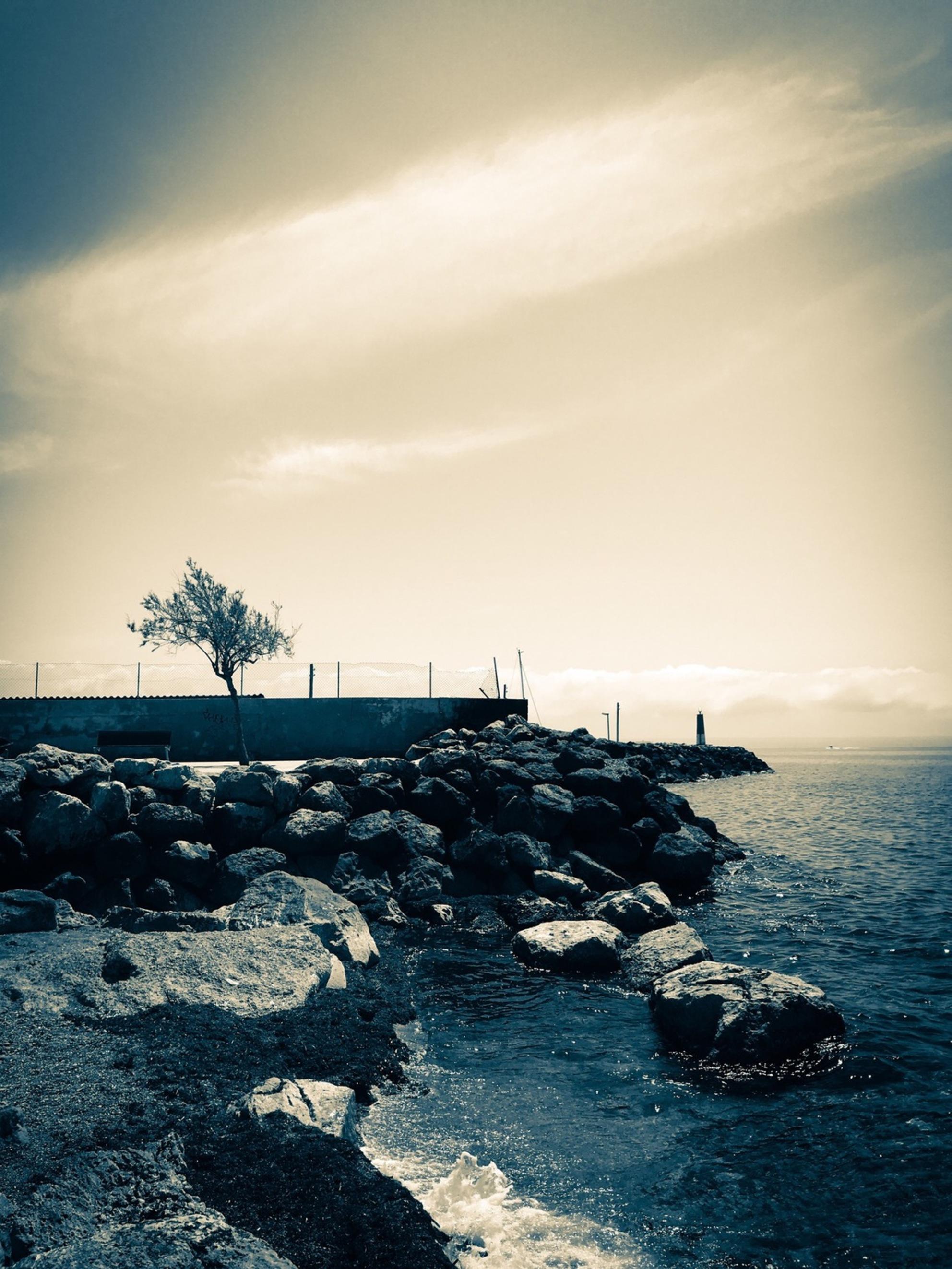 Palma - - - foto door emilewiersum op 23-05-2018 - deze foto bevat: wolken, zon, strand, zee, natuur, licht, landschap, zand, pier, maan, kust