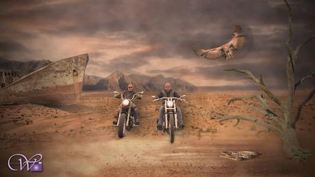 woestijn bikers