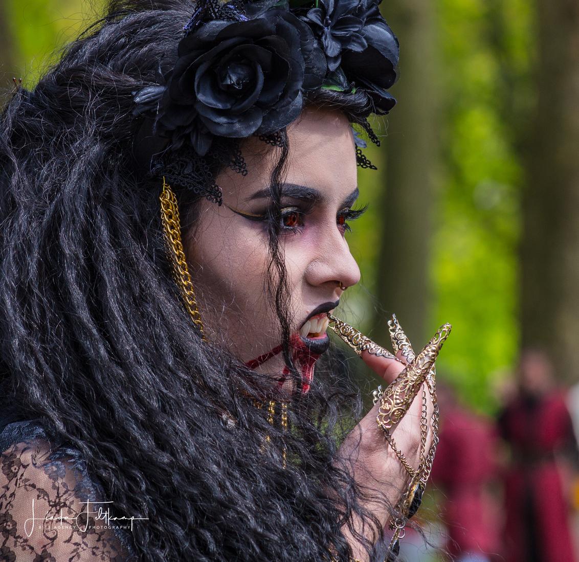 Elfia Festival - Elfia Festival Haarzuilens, een fantasy kostuum evenement - foto door Lotje1209 op 02-05-2018 - deze foto bevat: vrouw, mensen, portret, model, carnaval, haarzuilens, straatfotografie, festival, fantasy, kostuum, verkleed, visagie, evenement, Elfia