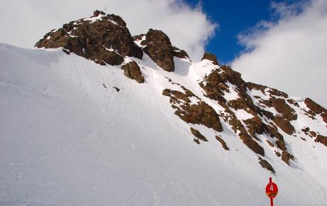 Zicht op de Top -4 op 3200 m NAP