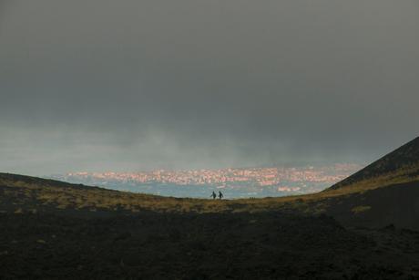 Vanaf de Etna