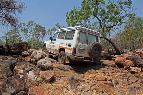 4x4 door Australische Outback.....elke dag een uitdaging!