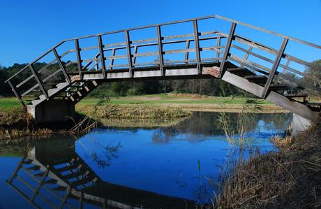 Bridge over blue water.....