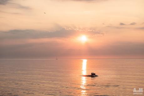 Zonsondergang over de Oostzee