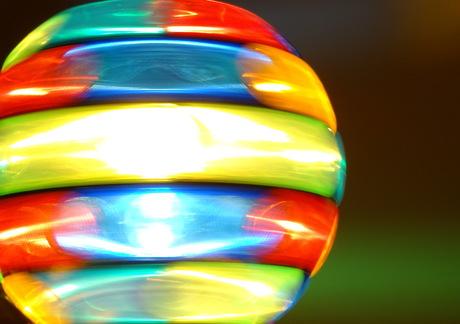 Discolicht in beweging