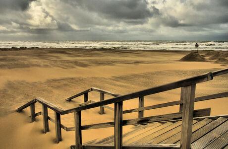 Het strand op