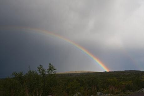 Na regen komt de regenboog