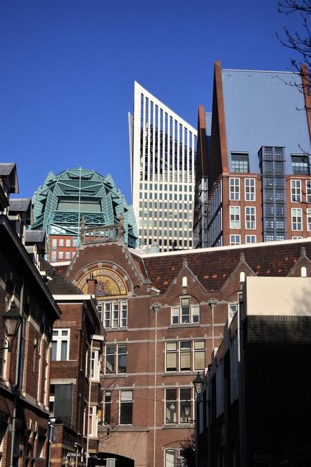 hoog den-Haag  - hoog den-Haag  gtjs.AJ62 - foto door AJ62 op 11-04-2021 - locatie: Den Haag, Nederland - deze foto bevat: lucht, gebouw, venster, stedelijk ontwerp, buurt, torenblok, wolkenkrabber, condominium, huis, boom