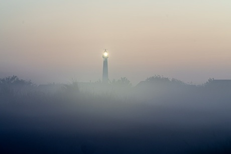 Ameland in de mist