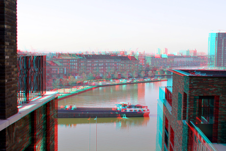 Coolhaven Rotterdam 3D anaglyph