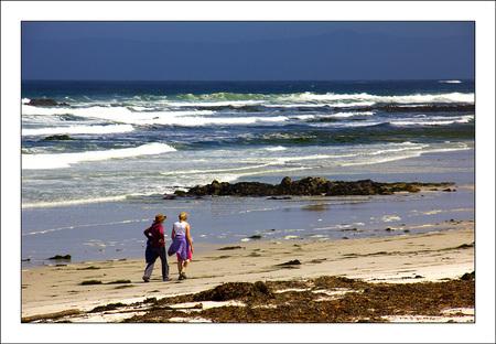 coastway - de prachtige kustweg van San Francisco naar Los Angeles - foto door corvangriet op 08-07-2013 - deze foto bevat: strand, golven, wandeling, oceaan, kustweg