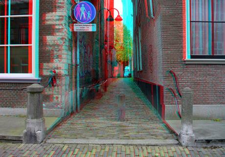 Baljuwsteeg Delft 3D anaglyph