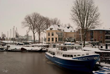 Middelburg in de sneeuw