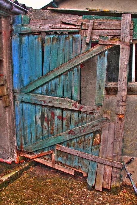 Oude staldeur