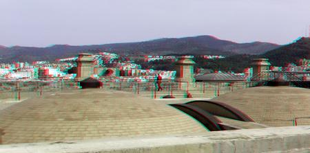 dak Catedral Malaga Spain 3D - anaglyph stereo red/cyan dak cathedral malaga - foto door hoppenbrouwers op 28-03-2019 - deze foto bevat: spanje, roof, dak, malaga, cathedral, spain, anaglyph, stereo, red/cyan