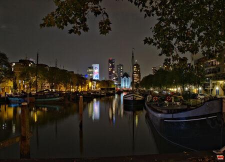 Rotterdam by night 1 - - - foto door wd1956 op 23-04-2019