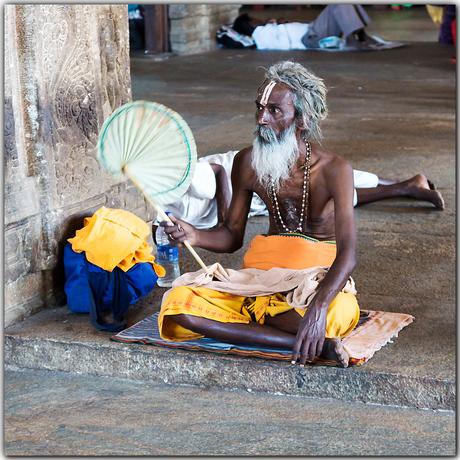 Heilige man in Srirangam