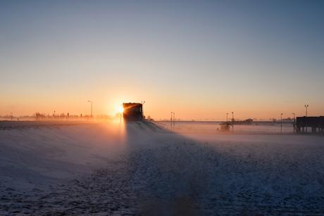 Winterse zonsopkomst Reevediep