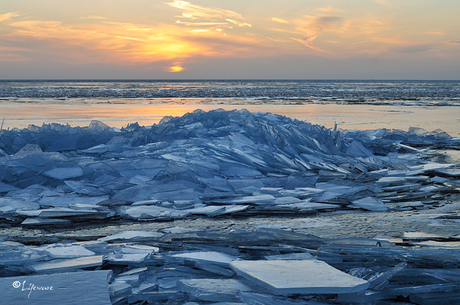 Kruiend ijs, Urk 2013