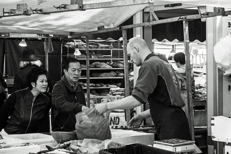 Op de markt