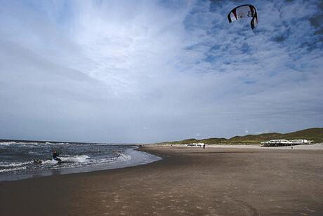kitesurfer in Callantsoog