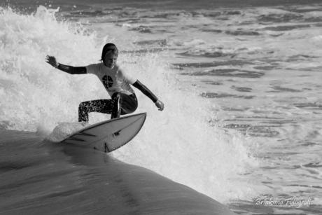 Surfer op Scheveningen