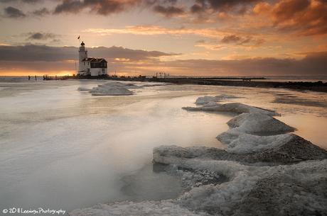 Lighthouse of Marken at sunrise